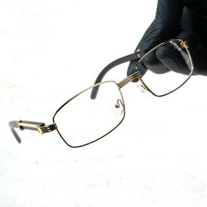 Mens AAA Quality Vintage Clear Lens Wood Glasses